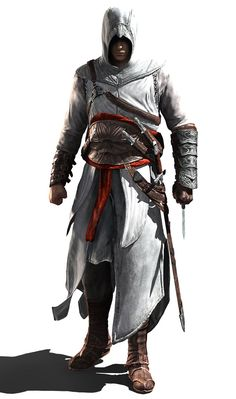 Altair kills for hire and is a master assassin he is very skilled with the hidden blade and sword so WATCH OUT SUCKA!!!!!!!