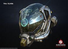 ArtStation - Battle Damaged Sci-fi Helmet - PBR, Leonardo Carrion