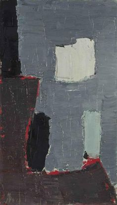 Nature morte, 1955 by Nicolas de Staël. still life Abstract Landscape Painting, Landscape Paintings, Abstract Paintings, Michael Borremans, Art Informel, Georges Braque, Contemporary Abstract Art, Modern Art, Art Moderne
