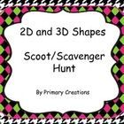 This is a great way for students to practice 2D and 3D shapes.  The cards can be used to play Scoot or for the students to go on a Scavenger Hunt. ...