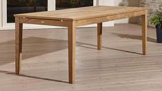 Teak dining table - this dense type of wood is strong enough to be used outside and elegant enough for the interior areas of your home. The wood can even Rectangle Dining Table, Walnut Dining Table, Extension Dining Table, Teak Table, Modern Dining Table, Table And Chairs, Dining Tables, Dining Area, Dining Room