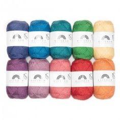 Rainbow Cotton Color Bag von Hobbii - Rainbow Cotton Color Bag from Hobbii Regenbogen Baumwolle Melange Color Bags Knit Or Crochet, Learn To Crochet, Crochet Stitches, Crochet Hooks, Crochet Patterns, Yarn For Sale, Yarn Bag, I Love This Yarn, Labor