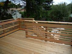 Ideal simple outdoor stair railing ideas just on smart homefi design - Porch railing ideas - Garden Deck Horizontal Deck Railing, Wood Deck Railing, Deck Railing Design, Timber Deck, Deck Design, Railing Ideas, Stair Railing, Reling Design, Modern Design