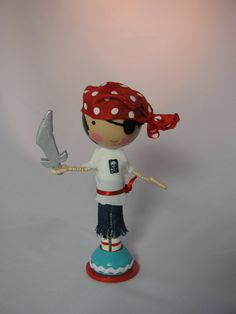 pirate clothespin doll $40.00 from Lallygag