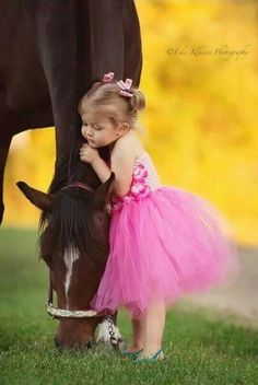 A tutu and a horsie! Two girlhood dreams in one swoop.