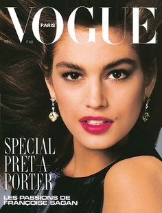 Photo: Cindy Crawford by Bill King for the cover of Vogue Paris, February 1987