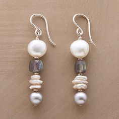 jolies boucles avec perles et pierres