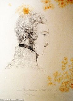 A sketch of Prince Albert by Queen Victoria...
