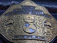 WWE Big Gold Real Wrestling Title Belt Championship WCW NWA TNA Ric Flair