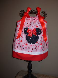 Minnie Mouse Valentine\u0027s Day Pillowcase Dress Etsy.com STLGIRL & Hey I found this really awesome Etsy listing at https://www.etsy ... pillowsntoast.com