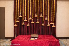 Haldi ceremony stage decor original Simple Stage Decorations, Engagement Stage Decoration, Naming Ceremony Decoration, Marriage Decoration, Desi Wedding Decor, Wedding Stage Decorations, Backdrop Decorations, Wedding Mandap, Flowers Decoration