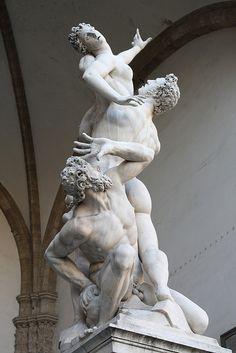 Giambologna's The Rape of the Sabine Women in Piazza della Signoria in Florence, Italy