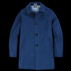 BLUE BLUE JAPAN - Light Moleskin Coat in Indigo