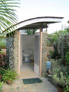 Outdoor Pool House Bathroom Fresh 24 Marvelous Outdoor Bathroom Design for Perfectly Bathroom Outdoor Pool Bathroom, Outdoor Toilet, Outdoor Baths, Outdoor Showers, Pool House Bathroom, Indoor Outdoor, Backyard Patio, Backyard Landscaping, Pool Bad