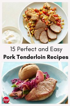 These popular pork tenderloin recipes are incredibly versatile, each one more flavourful than the last. Easy Pork Tenderloin Recipes, Pork Roast In Oven, Slow Cooker Pork Tenderloin, Food Network Canada, Slow Cooker Recipes, Easy Dinner Recipes, Food Network Recipes, Cooking, Popular