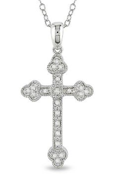 0.1ct Diamond Cross Pendant In Silver  $147.00