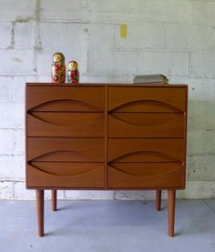 Exceptional mid century Modern styled Teak dresser with intricately sculpted drawer pulls. The structure and quality of this piece highlight the elegant Danish style construction. The eight drawers. Mcm Furniture, Classic Furniture, Rustic Furniture, Vintage Furniture, Outdoor Furniture, Furniture Layout, Furniture Websites, Furniture Design, Furniture Dolly