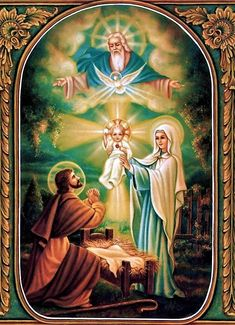 God the Father watching over baby Jesus Catholic Religion, Catholic Art, Religious Art, Catholic Pictures, Jesus Pictures, Image Jesus, Christian Artwork, Holy Mary, Blessed Virgin Mary