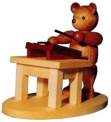 木製の可愛らしいクマですっ:bear playing the hammer dulcimer!  Bär mit Hackbrett 939902    erzgebirge.optik-ripken.de