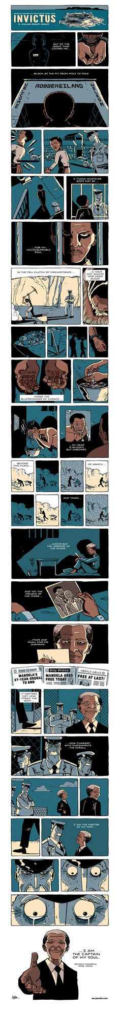 Zen Pencils is too brilliant. Stick with this one; the last 10 panels are the the perfect description of what made Mandela great