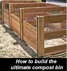 DIY Compost Bin - Great for Organic Gardening - The Gardening Cook