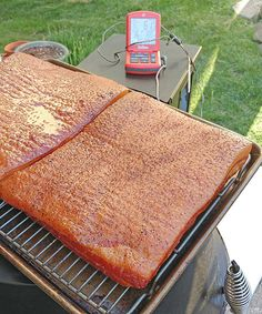 Nibble Me This: Brown Sugar and Honey Bacon Smoked on a Pellet Cooker Smoked Pork Belly Recipe, Smoked Meat Recipes, Bacon Recipes, Rib Recipes, Game Recipes, Pork Bacon, Bacon Sausage, Smoked Bacon, Smoker Recipes