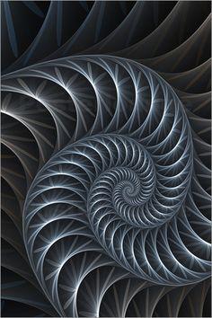 gabiw Art - Fraktal 'Blumenspirale'