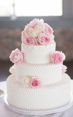 Milk glass wedding cake