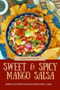 Easy and delicious, sweet, tangy and spicy, the perfect salsa dip snack with nachos for Super Bowl, or simply on top of grilled chicken or fish - Fresh Mango Tomato Salsa Tomato Salsa Recipe, Mango Salsa Recipes, Fruit Salsa, Mango Salsa Recipe Canning, Canning Recipes, Healthy Snack Options, Healthy Recipes, Healthy Nachos, Sauces