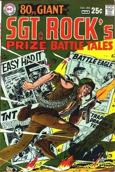 sgt rock covers silver age | Sgt Rock 80 pg Giant!