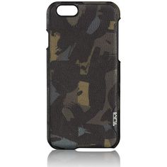 Tumi iPhone 6 Phone Cover - Camo (130 CAD) ❤ liked on Polyvore featuring accessories, tech accessories, neutral and tumi