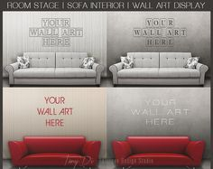 Room Stage Sofa Interior Wall Art Display by TanyDiDesignStudio