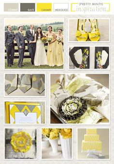 Yellow + grey + argyle this pretty much sums up my wedding check list