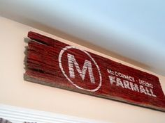 Farmall Barnwood Sign and Easy Peasy Curtains Barn Wood Crafts, Barn Wood Projects, Art Projects, Barn Wood Signs, Rustic Signs, Rustic Wood, Country Chic Cottage, Country Decor, Tractor Bedroom