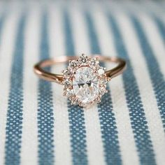 vintage rose gold wedding engagement ring #weddingring