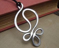 Yin Yang Harmony Big Pendant Necklace   Light by nicholasandfelice, $12.50