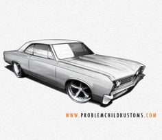 A peek into my process: Drawing a '67 Chevelle using pencil, paper and markers. All of the pre-digital goodness that goes into one of my drawings. See it here: http://www.behance.net/gallery/Drawing-a-Chevelle/7127685   #cars #art #drawing