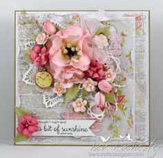 All the things I love, Card with flowers