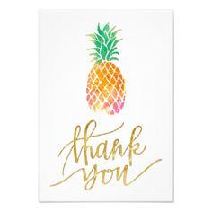 #wedding #thankyoucards - #tropical watercolor pineapple thank you card