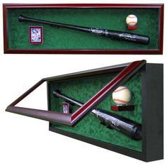 Display Cases - Baseball Bat - Ball and Card...A premium display case that's perfect for the baseball memorabilia collector in your life.