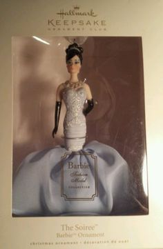 Hallmark Porcelain Barbie The Soiree 2008 Ornament Club Limited Edition MINT