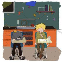 South Park Anime, South Park Fanart, Style South Park, South Park Memes, South Park Characters, Tweek And Craig, Tweek South Park, Park Art, Ship Art