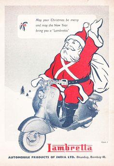 Lambretta Christmas Scooter Ad India