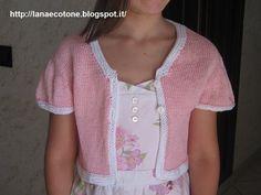 Lana e Cotone (maglia e uncinetto): Cardigan realizzato con metodo contiguous