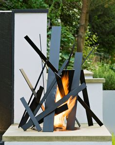 One of Cathy Azria's sculptural steel 'bonfires'  http://www.bd-designs.co.uk/