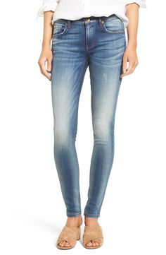Kut From The Kloth Mia Toothpick Skinny Jeans (Exotic) White Distressed Jeans, White Jeans, Nordstrom Half Yearly Sale, Denim Skinny Jeans, Exotic, Cotton, Pants, Outfits, Key