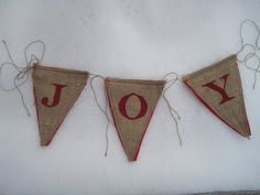 burlap holiday banner