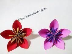 쉬운 꽃 종이접기,Easy flower origami