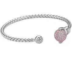 Terra Cuff Bracelet White Gold (440 BAM) via Polyvore featuring jewelry, bracelets, cuff bangle, hinged cuff bracelet, handmade jewelry, white gold jewellery i white gold bangle