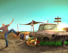 "Check out new work on my @Behance portfolio: ""little shop at the desert"" http://on.be.net/1H11hsc"